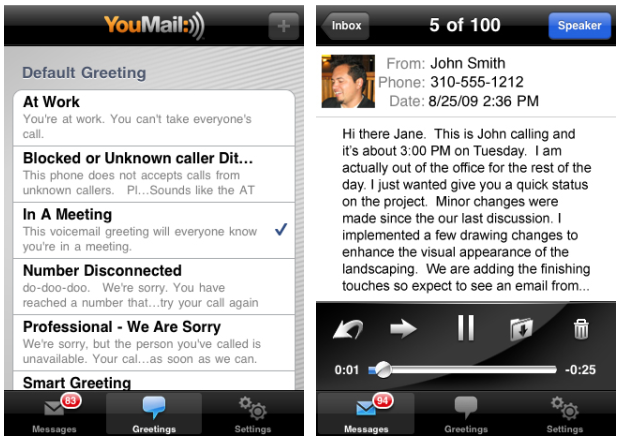 Digital secretary service youmail hits 1 million users 300 million youmail faces competition with google voice although there are some notable differences for instance youmail boasts an api for third party developers m4hsunfo