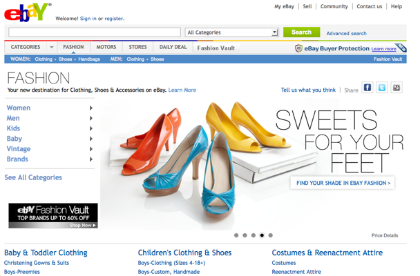 Ebay Launches One Stop Shop For All Things Fashion Techcrunch