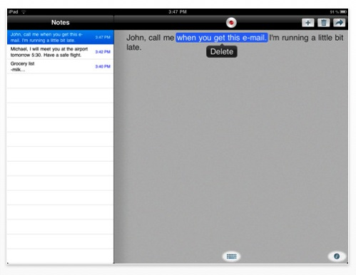 Dragon Dictation  On the iPad  For free! | TechCrunch