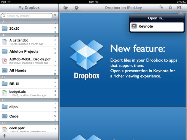Dropbox Launches Android App & Mobile API, Gives iPad Cloud