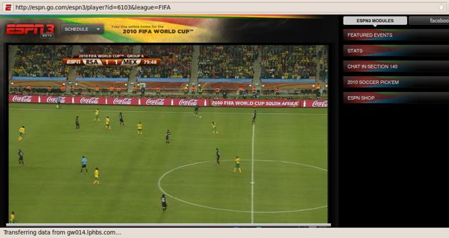 Kudos To Espn S World Cup Live Stream Techcrunch