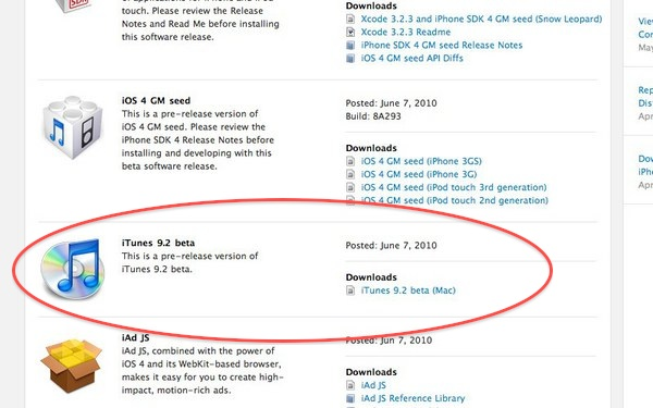 iTunes 9 2 Coming Alongside iOS 4 — Yes, It's Still Called