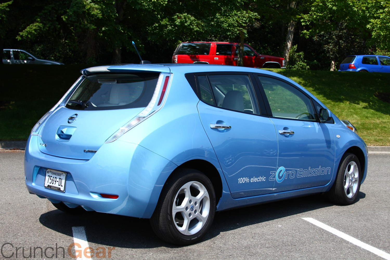 test drive nissan leaf techcrunch. Black Bedroom Furniture Sets. Home Design Ideas