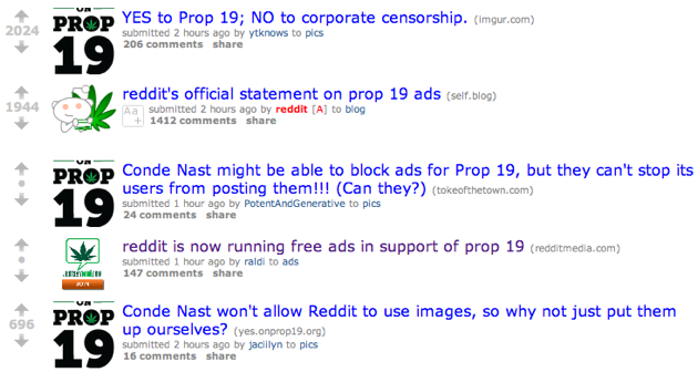 Reddit And Condé Nast Spar Over Ads Promoting Legalization