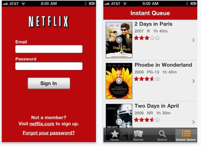 Netflix for iPhone and iPod Touch Finally Here | TechCrunch