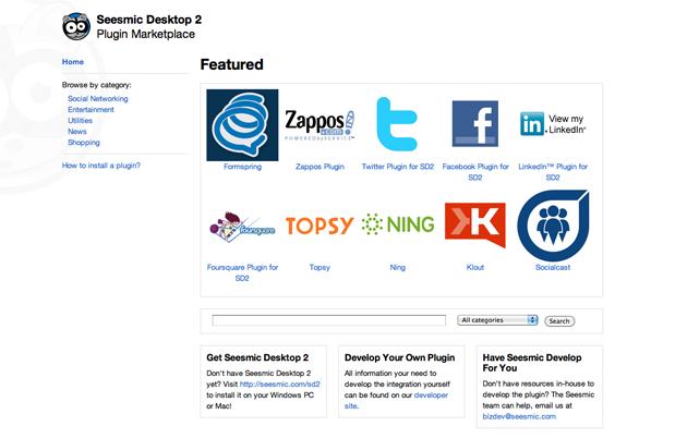 With 40+ Customizable Plugins, Seesmic Desktop 2 Aggregates