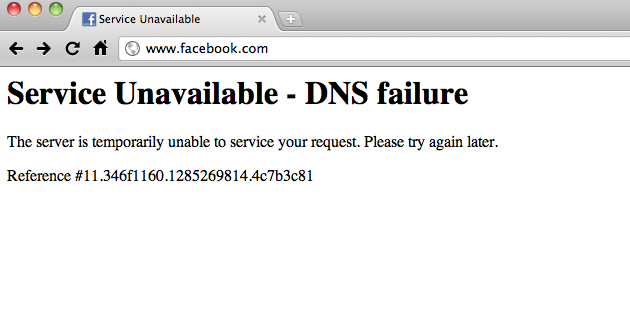 Facebook Down, Like Buttons Vanish, Internet Implodes