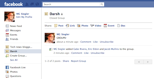 A Quick First Look At The New Facebook Groups | TechCrunch