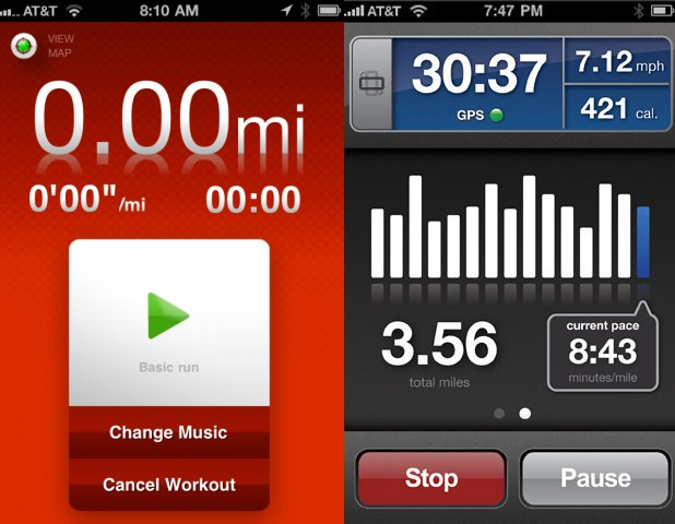 The Nike+ interface, especially the Nike+ system for uploading runs  directly to a website for tracking, was revolutionary.