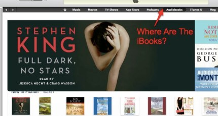 If You Want To Find Books In iTunes, Look In The App Store