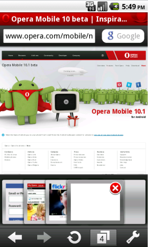 Behold Opera Mobile For Android: Speedy, Pinch-To-Zoom