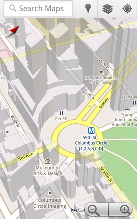 Map New York Offline.Android Map App Will Get 3d Buildings Compass Orientation And