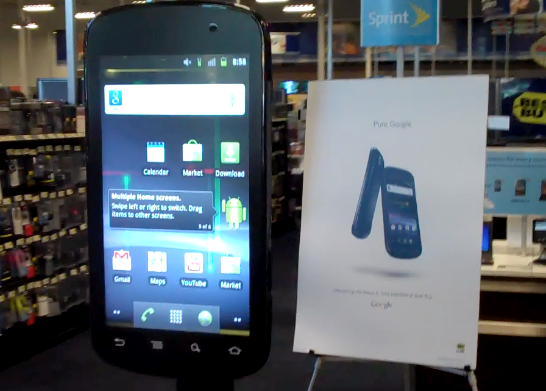 hands on with largest android phone ever a 42 inch nexus s techcrunch. Black Bedroom Furniture Sets. Home Design Ideas