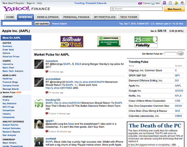 Yahoo Finance Adds Curated Stock Conversations From StockTwits
