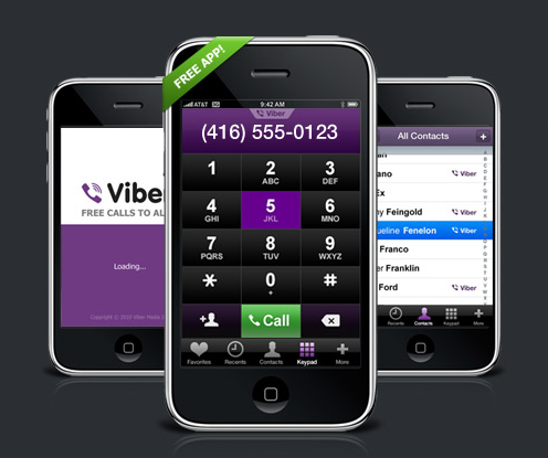 Viber For iPhone Aims To Rival Skype's App, Is Amazingly