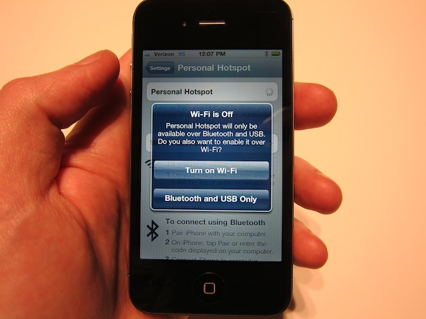 """As you can also see in the """"Network"""" area, the Personal Hotspot is set to  """"on"""". You simply open your computer network settings and choose """"iPhone""""."""