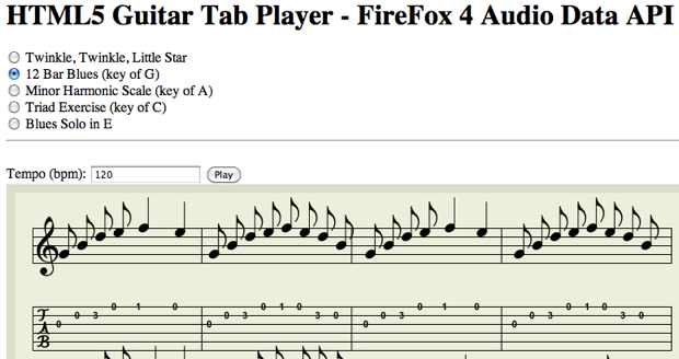 HTML5 Could Help Bring Some Sanity To Online Guitar Tabs   TechCrunch