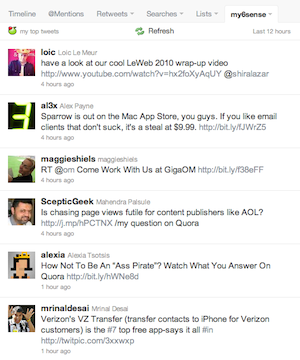 My6sense Injects A Relevance-Based Tweet Stream Into Twitter com