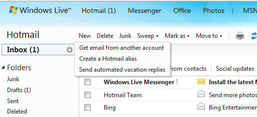 Hotmail's New Alias Feature Lets You Handle Multiple