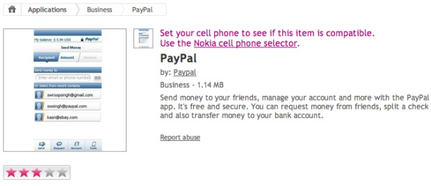 Official PayPal App Quietly Published On Nokia's Ovi Store