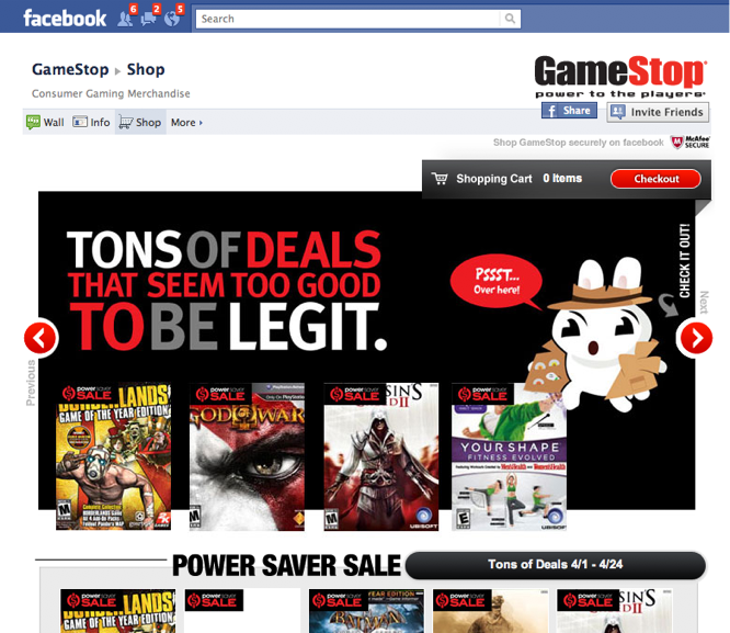 Video Game Retailer GameStop Opens For Business On Facebook