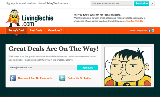 LivingTechie Is A Groupon For Techies | TechCrunch