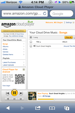 Amazon Cloud Player Quietly Begins Working On iOS Devices! | TechCrunch