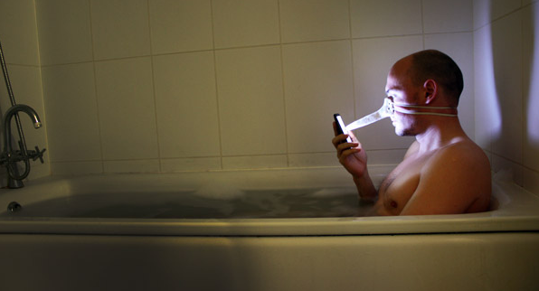 Perfect Weu0027ve All Been There: Youu0027re Relaxing In The Bath (or, As Real Men Call It,  The U201cultra Masculine Germ Drowning Stationu201d), Tappinu0027 Away On Your IPhone.
