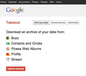 Google Takeout, An Easier Way To Take Your Data With You