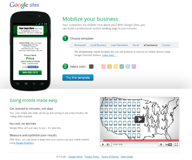 Google sites now allows you to create a mobile landing page techcrunch google sites now allows you to create a mobile landing page maxwellsz