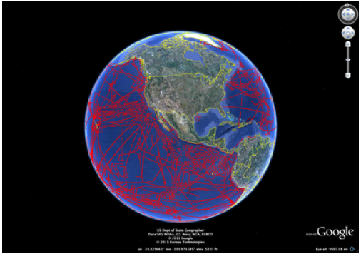google earth columbia university map seafloor area bigger than north america