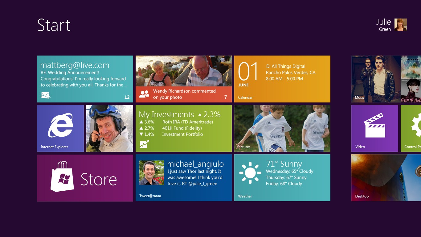 Remarkable Windows 8 Brings Entirely New Look And Feel Unifies Touch Interior Design Ideas Oteneahmetsinanyavuzinfo