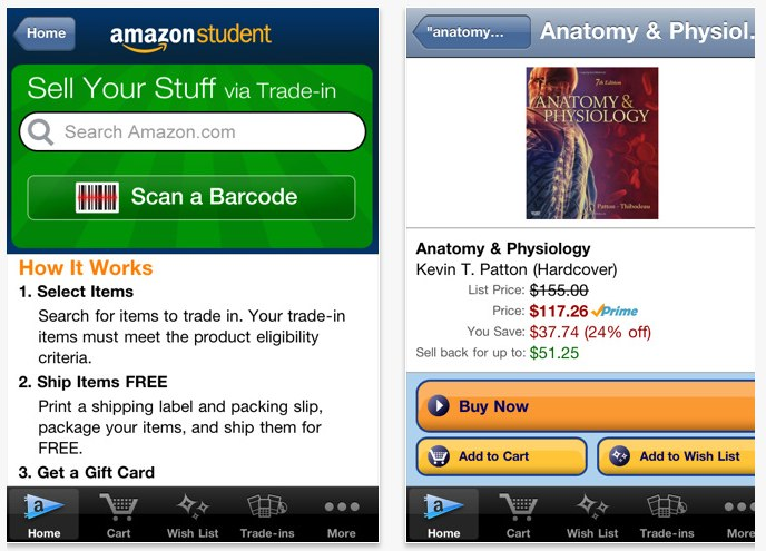 Amazon Launches New Iphone App For College Students Techcrunch