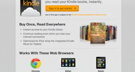Amazon's Answer To Apple's Terms: A Web-Based Kindle Cloud
