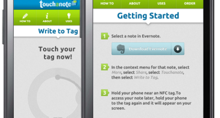 Touchanote Adds NFC Support to Evernote | TechCrunch