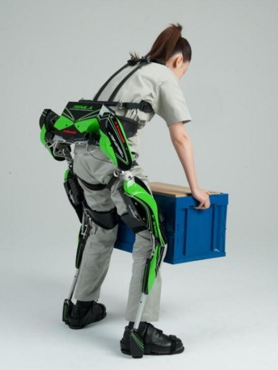 Video Kawasaki S Power Assist Robot Suit Helps Humans Lift Heavy