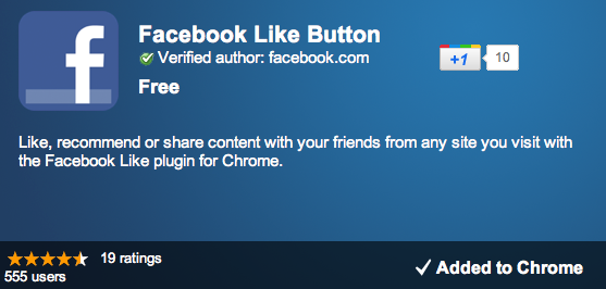 Facebook Also Quietly Rolled Out A Like Button Chrome