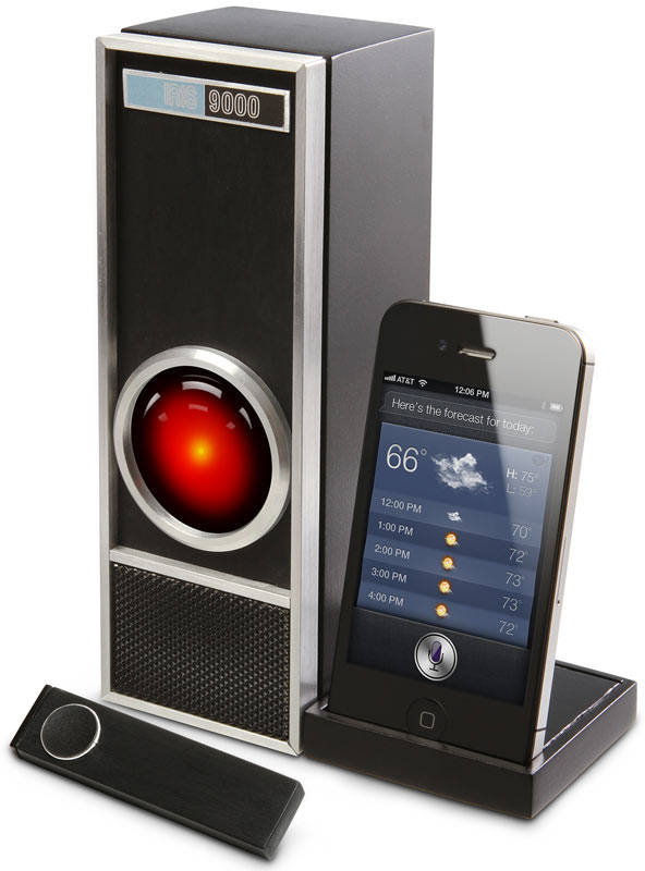 siri gets scary with thinkgeek s iris 9000 techcrunch
