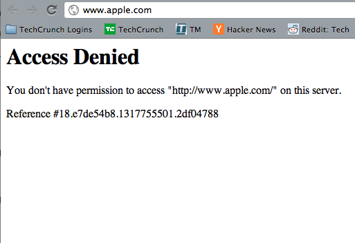 "Access Denied"": Apple com Goes Down Post-iPhone 4S Event 