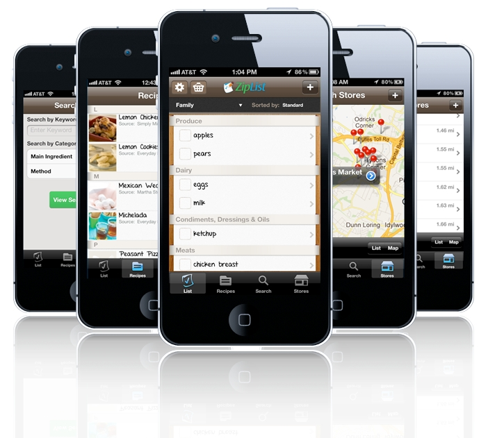 ZipList's Grocery List & Recipe Search App Gets Overhauled | TechCrunch