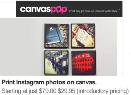 Blow Up Instagram Photos Into 20 X 20 Paintings With Canvaspop