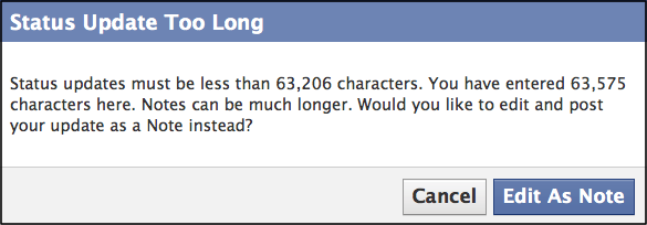 Facebook Ups Character Limit to 60,000, Google+'s Is Still ...