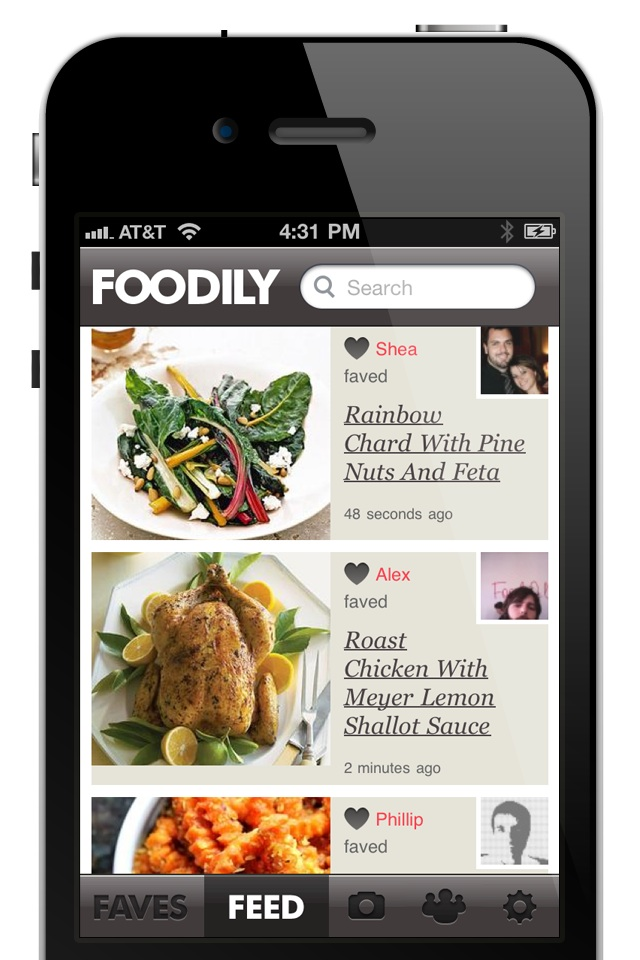 Recipe search sharing service foodily arrives on iphone techcrunch iphoneappscreenshotsfeed forumfinder Image collections