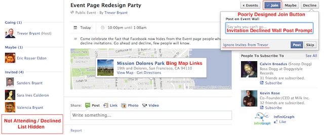 Facebook Updates Events Makes Not Attending Less Insulting