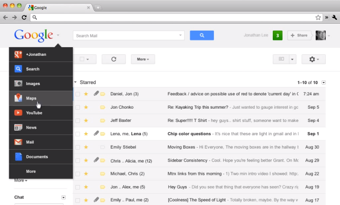 A New Google Bar: Black Is Out, Google Search Across