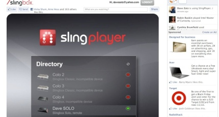 Facebook Is Great For Sharing Pictures >> Slingbox Facebook App Goes Live Isn T Great At Sharing Techcrunch