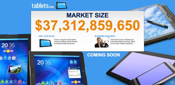 Tablets com Goes Up For Sale | TechCrunch