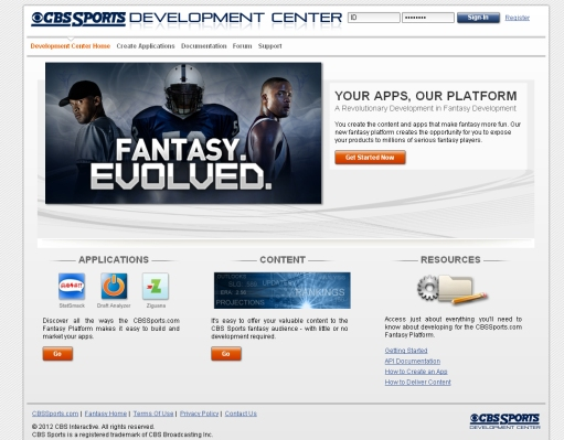 """A Fantasy App Store? CBS Sports To Launch """"First Open Platform"""" For"""