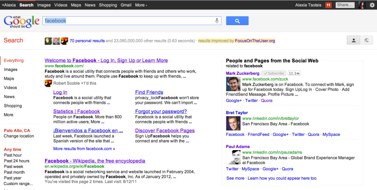 """Facebook And Twitter Engineers Fight Google """"Search Plus Your World"""