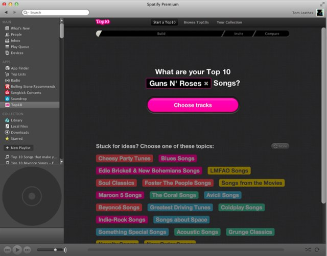 Top10's Nifty Spotify App Drives 100,000 Song